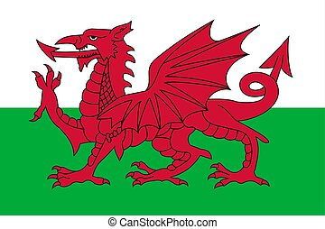 Simple flag of Wales