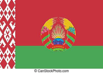 Simple flag with coat of arms