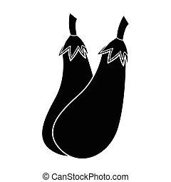 eggplant - simple flat black eggplant icon vector