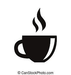simple flat black herbal tea icon vector