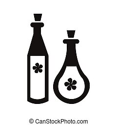potion - simple flat black potion icon vector