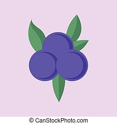 Simple Flat Blueberry Vector Illustration