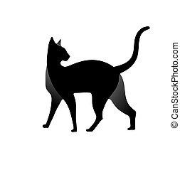 cat silhouette Design Vector
