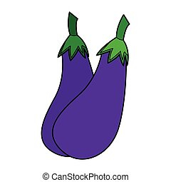 eggplant - simple flat color eggplant icon vector