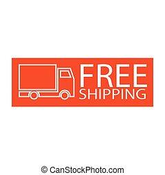 free shipping truck symbol