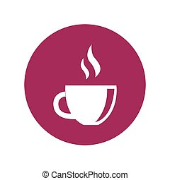 simple flat colour herbal tea icon vector