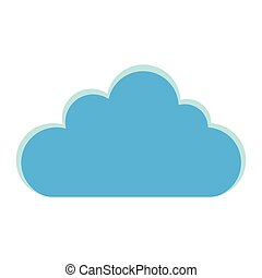 blue cloud icon