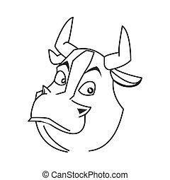 bull cartoon icon