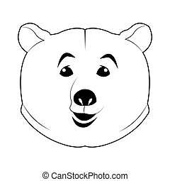 face of bear icon
