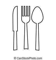 fork spoon knife silhouette icon