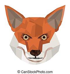 geometric texture fox icon