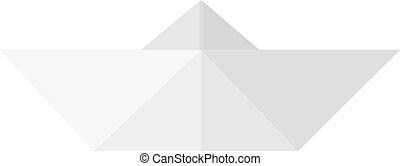 Simple Flat Design Illustration of Paper Boat.