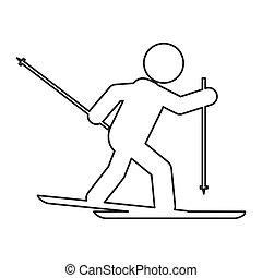 skiing pictogram icon