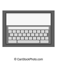 tablet with keyboard on screen icon