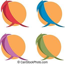 simple flat design vector illustration of birds