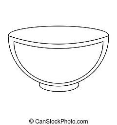 white ceramic bowl icon