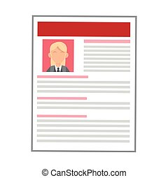 woman red curriculum vitae icon