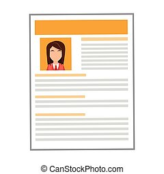 yellow woman curriculum vitae icon