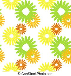 Simple flat floral seamless pattern on a white background
