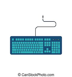Simple flat keyboard vector illustration design isolated on white background