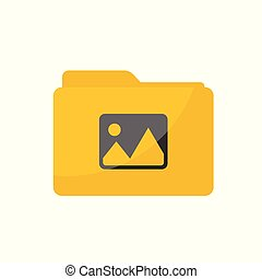 Simple Flat minimalist Common Picture Gallery folder icon