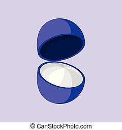 Simple Flat Open Blueberry Vector Illustration