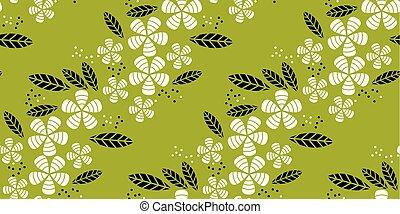 simple flat tropical flower pattern