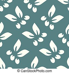 Simple floral seamless pattern.