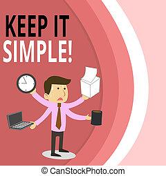 simple., foto, informatietechnologie, vragen, directeur,...