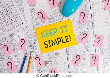 simple., foto, informatietechnologie, vragen, papier, iets,...