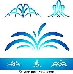Simple Fountain Set - Simple Fountain Collection For Logo...