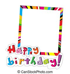 Simple frame with Happy birthday