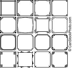 Simple frames - Set of simple frames