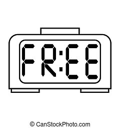 free digital clock icon