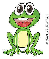 Simple frog - Illustration of a simple frog
