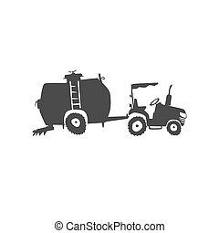 fun tractor icon