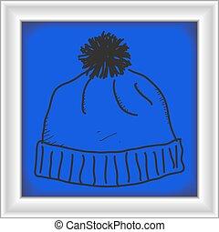 simple, garabato, de, un, sombrero de error