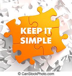 simple, garder, puzzle., jaune, il