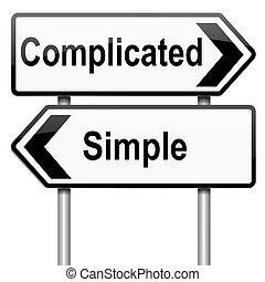 simple., gecompliceerd, of