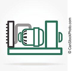 simple petrol electric generator icon vector