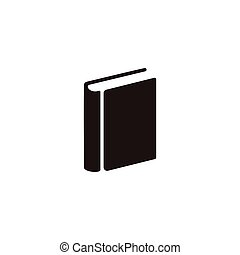 simple geometric negative space book symbol vector