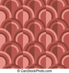 geometric scales pattern in terracotta soil colors - Simple...