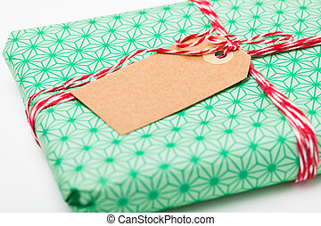 Simple gift with tag