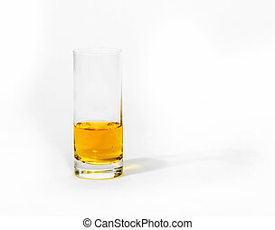 glass isolated on white background with apple juice