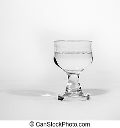 glass isolated on white with water