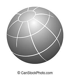 simple, globo, gris, ilustración, color, vector, diseño, element., 3d