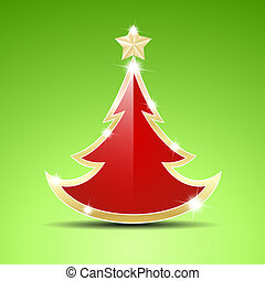 Simple glossy Christmas tree