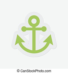 simple green icon - anchor