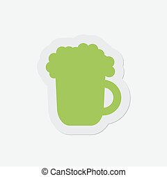 simple green icon - beer
