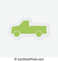simple green icon - car